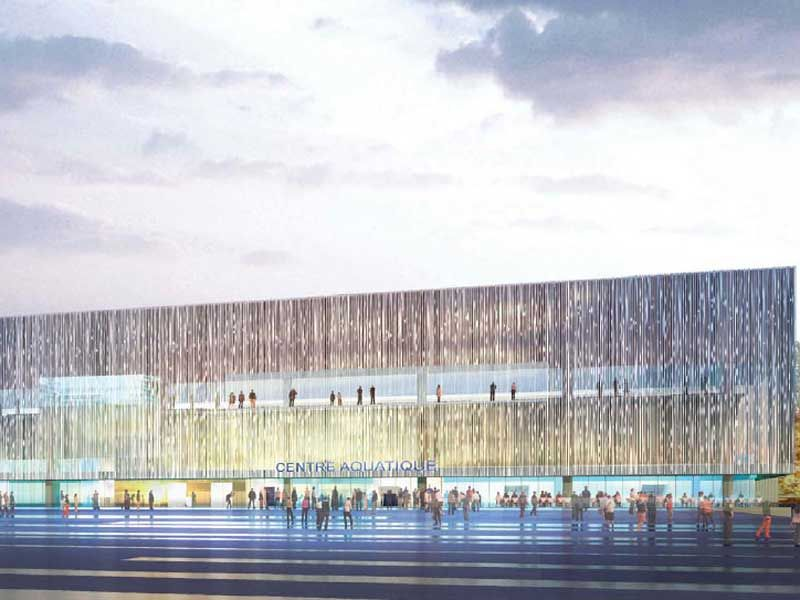 Projet olympique de paris 1992 sport soci t - Piscine du stade olympique ...