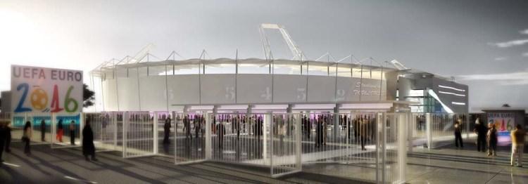 Le parvis du stade de Toulouse