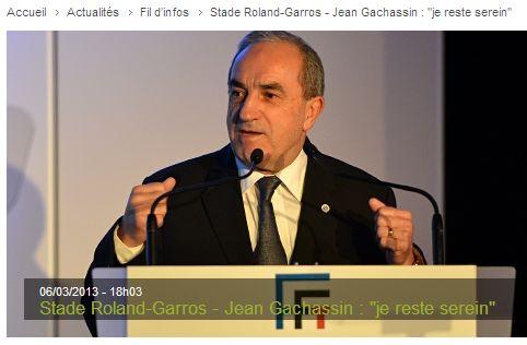 Jean Gachassin - FFT - Roland Garros