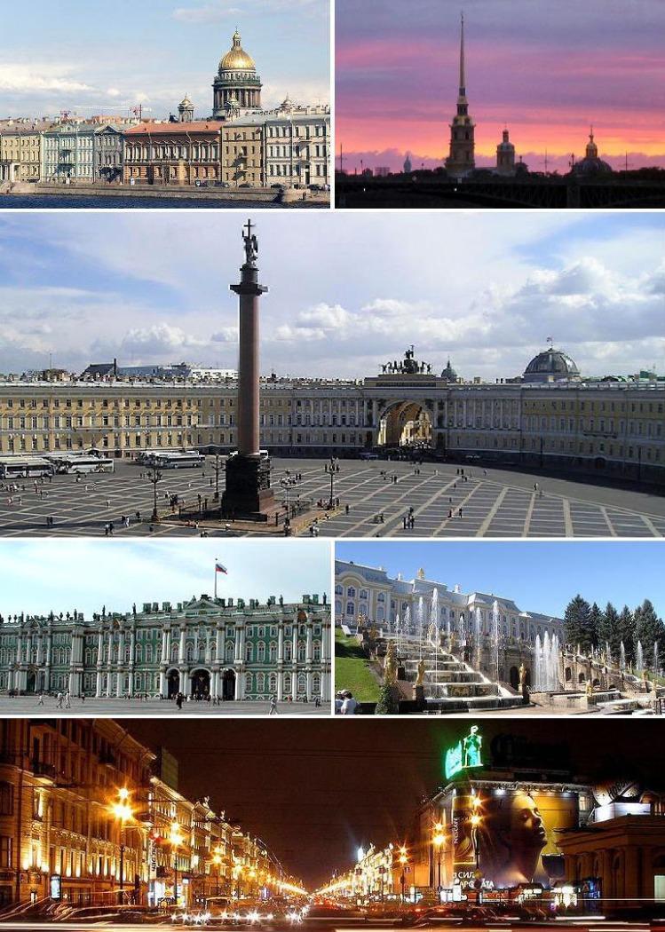 Saint-Petersbourg - Mosaïque de monuments