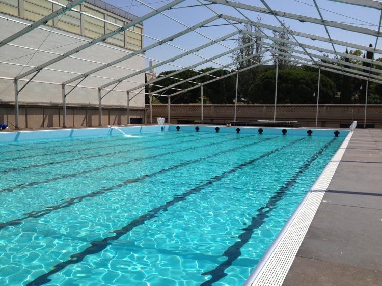 Mondiaux de natation 2013 le palau sant jordi se dote d for Chauffage piscine olympique