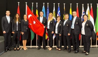 Istanbul 2020 - ANOC 2013 - délégation officielle