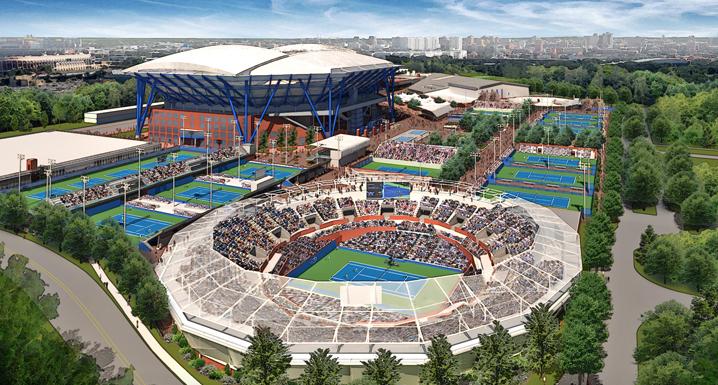 Flushing Meadows - new Grandstand Stadium
