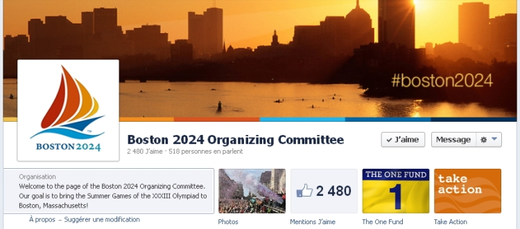 Boston 2024 - page officielle Facebook