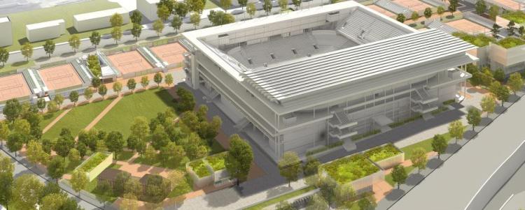 Couverture du Stade Philippe Chatrier - Roland Garros