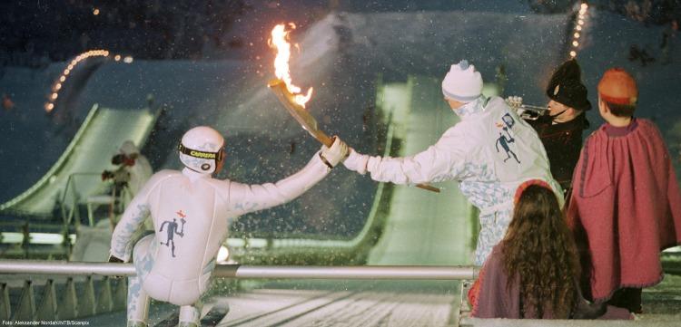 Lillehammer 1994 - flamme olympique