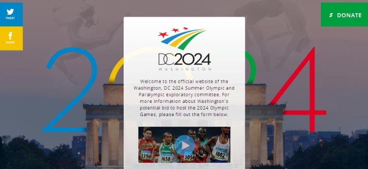 Washington DC 2024 - page d'accueil
