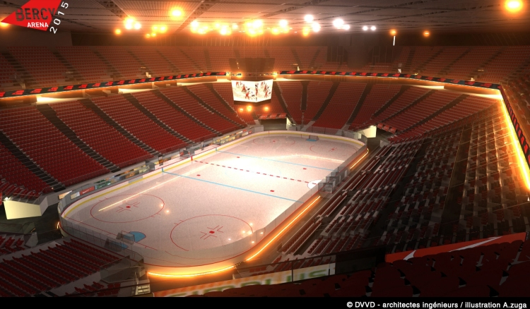 Bercy Arena - configuration patinoire