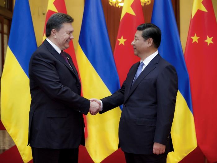 Visite du Président Ukrainien en Chine