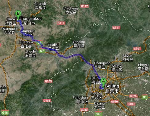 Pékin - Zhangjiakou