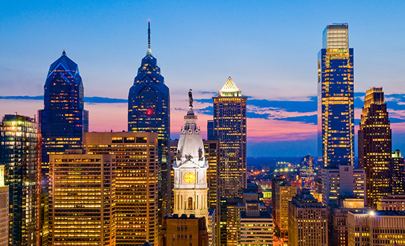 Philadelphie - vue nocturne
