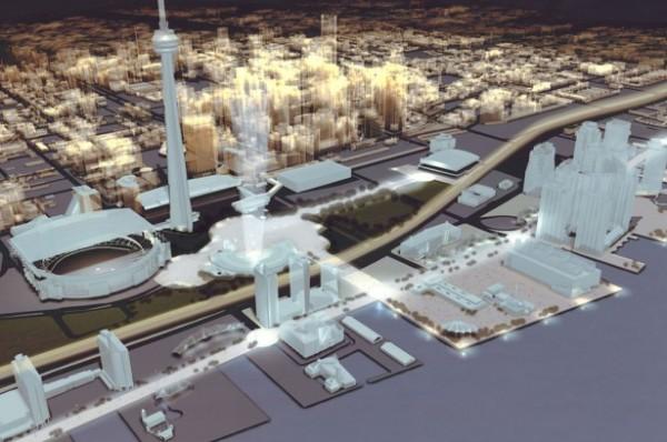 Toronto - projet olympique 2008 - vue du ciel