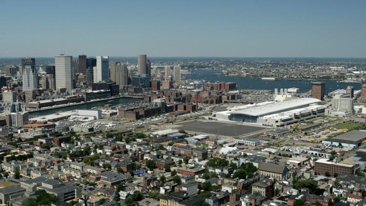Vue aérienne de Boston