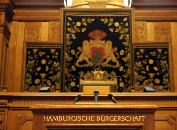 Hamburg - Bürgerschaft - tribune
