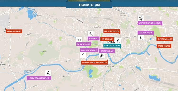 Krakow 2022 - carte du pôle glace