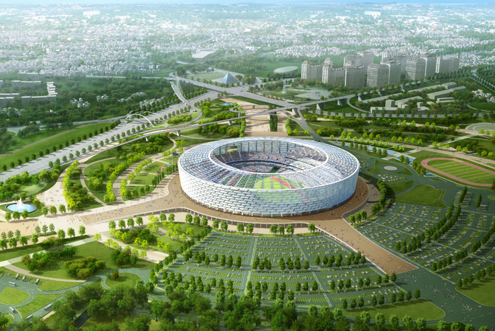 Olympic Stadium - Bakou - jour