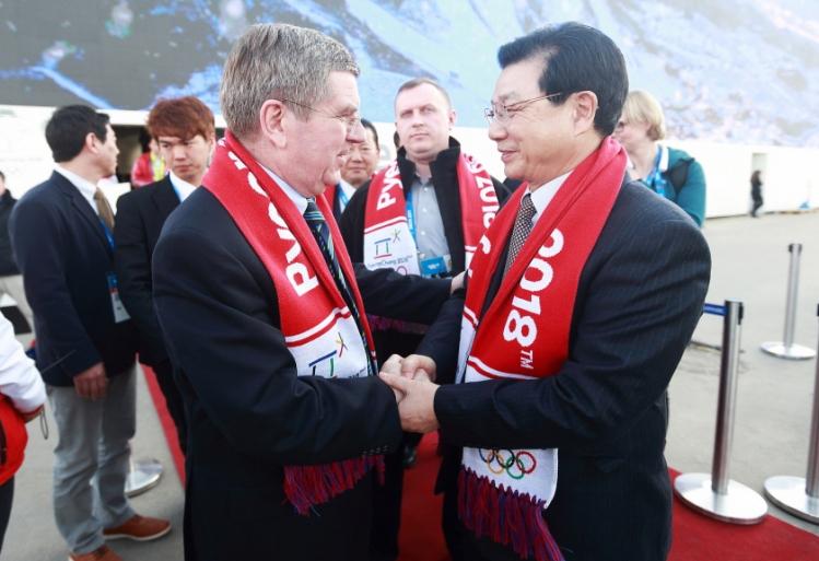 PyeongChang 2018 - Thomas Bach et Kim Jin-sun
