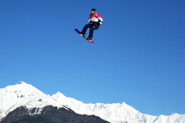 Snowboard slopestyle