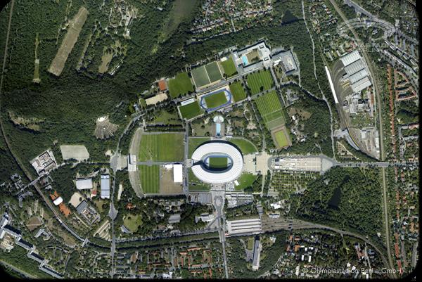 Parc Olympique de Berlin - vue aérienne