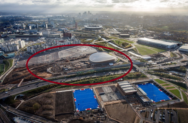 22.11.13 Aerial shoot over Queen Elizabeth Olympic Park