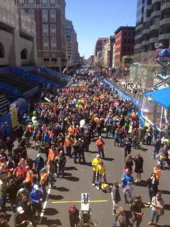 Marathon de Boston - finish line