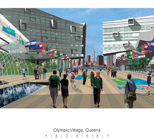 Visuel du Village Olympique de New York (Crédits - NY 2012)