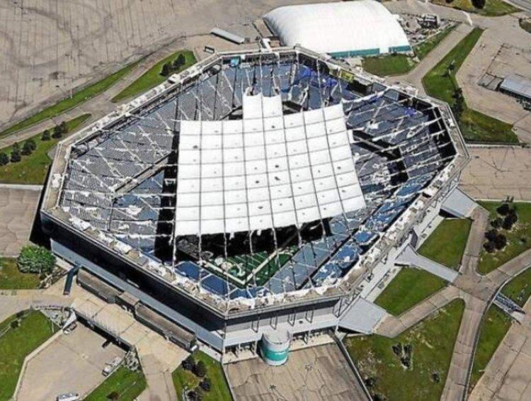 Pontiac Silverdome - vue aérienne