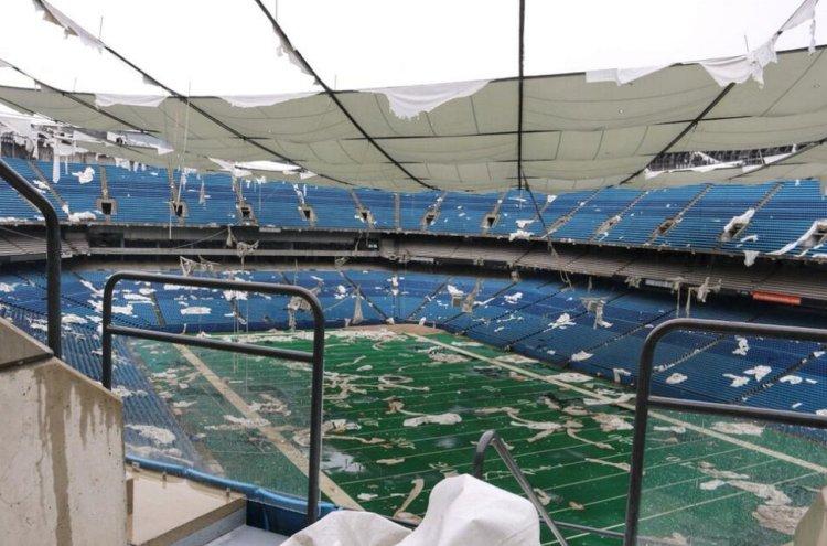 Pontiac Silverdome - vue intérieure