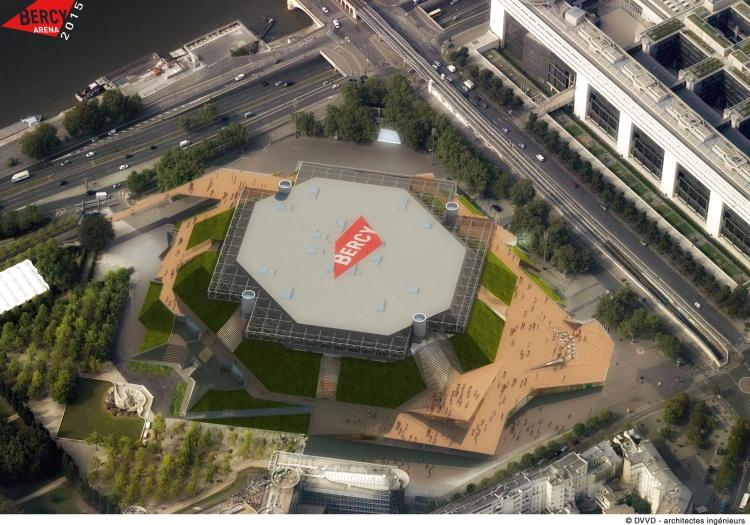 Bercy Arena - vue aérienne de la future salle
