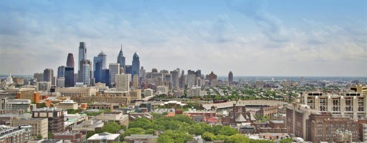 Philadelphie - vue d'ensemble de la ville