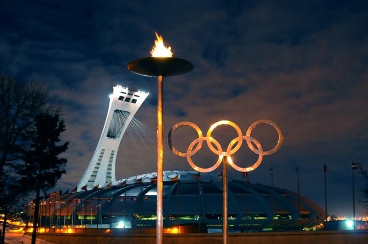 Stade Olympique de Montréal - vue nocturne