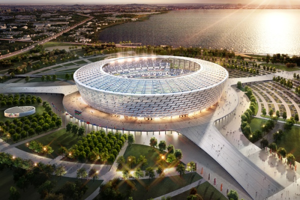 Bakou 2015 - vue aérienne du Stade Olympique