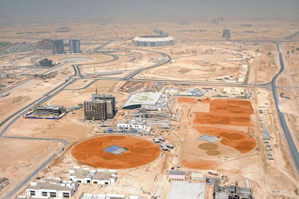 Dubaï Sports City - chantier