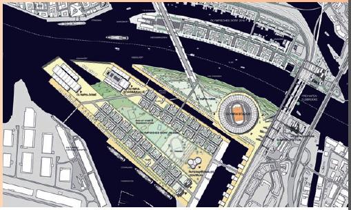 Hambourg 2024 - projet du Village Olympique