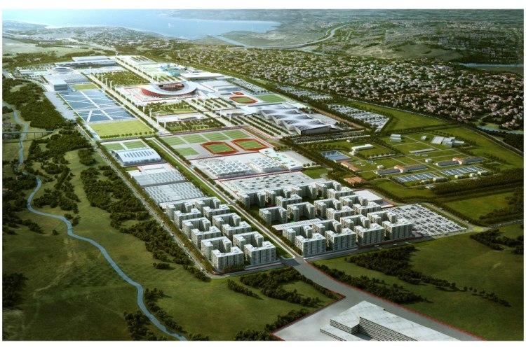 Istanbul 2020 - Vue du Parc Olympique et du Stade Atatürk