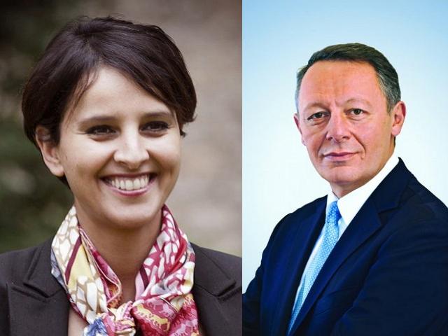 Najat Vallaud-Belkacem et Thierry Braillard