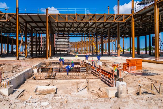 Rio 2016 - Barra - chantier du Centre des Médias - juillet 2014