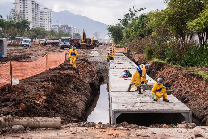 Rio 2016 - opération de drainage Barra - juillet 2014