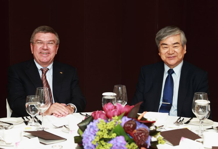 PyeongChang 2018 - Président du CIO et Président du Comité d'organisation