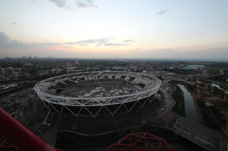 Stade Olympique de Londres - vue aérienne 2014