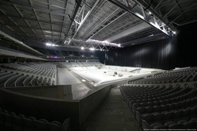 Stade Pierre Mauroy - mise en place scène