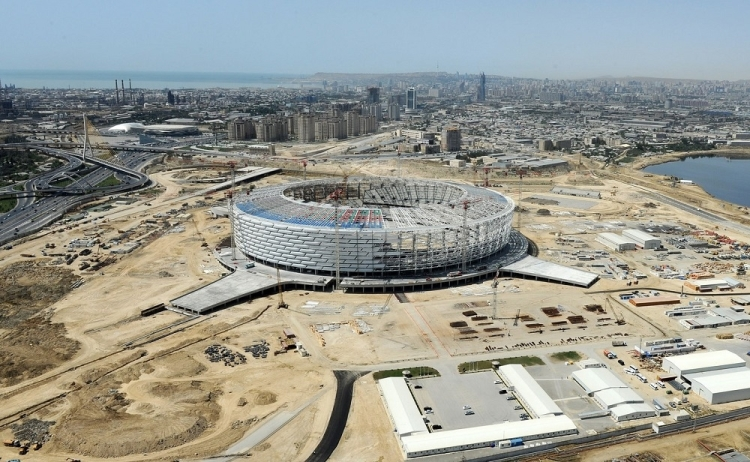 Bakou 2015 - Stade Olympique - octobre 2014