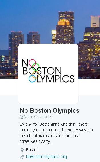 Boston 2024 - No Boston Olympics - twitter