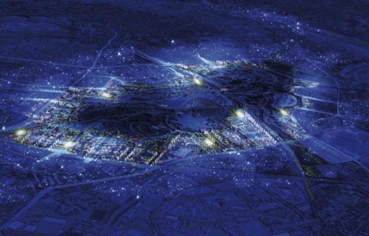 Paris 2024 - Central Park - visuel nocturne