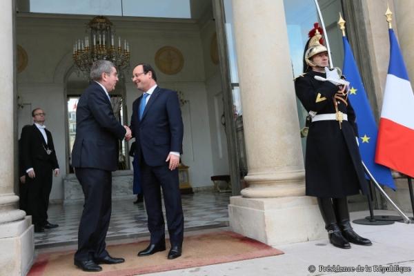 Thomas Bach et François Hollande - novembre 2013