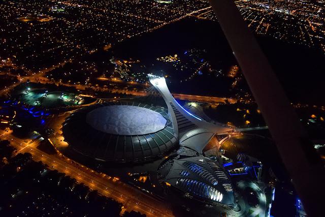 Stade Olympique de Montréal - vue aérienne