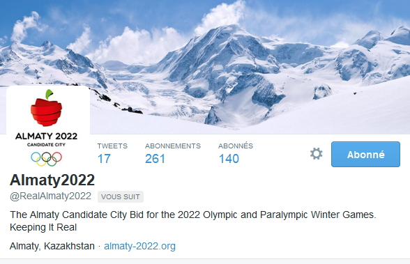 Almaty 2022 - Twitter