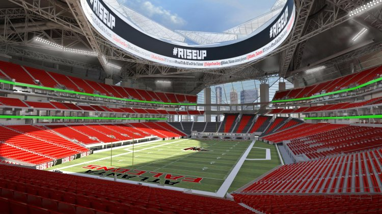 Atlanta - nouveau stade - terrain