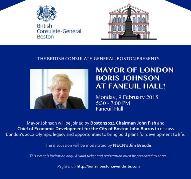 Boston 2024 - Maire de Londres