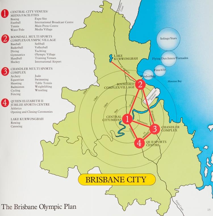 Brisbane 1992 - plan du projet olympique